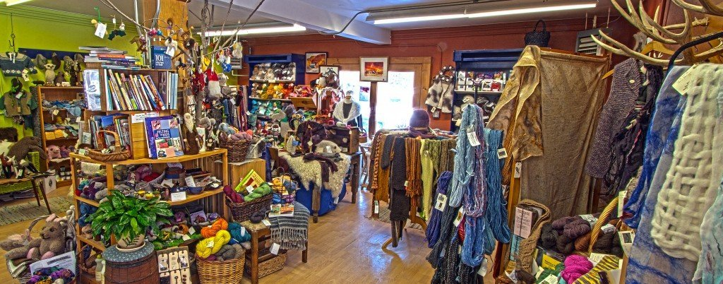 Shopping in Northern Vermont at the Mountain Fiber Folk Coop.
