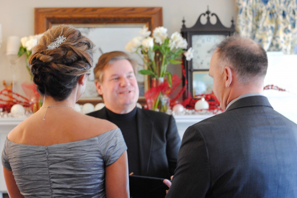 Recommitment ceremony at the Phineas Swann Bed and Breakfast near Jay Peak Vermont