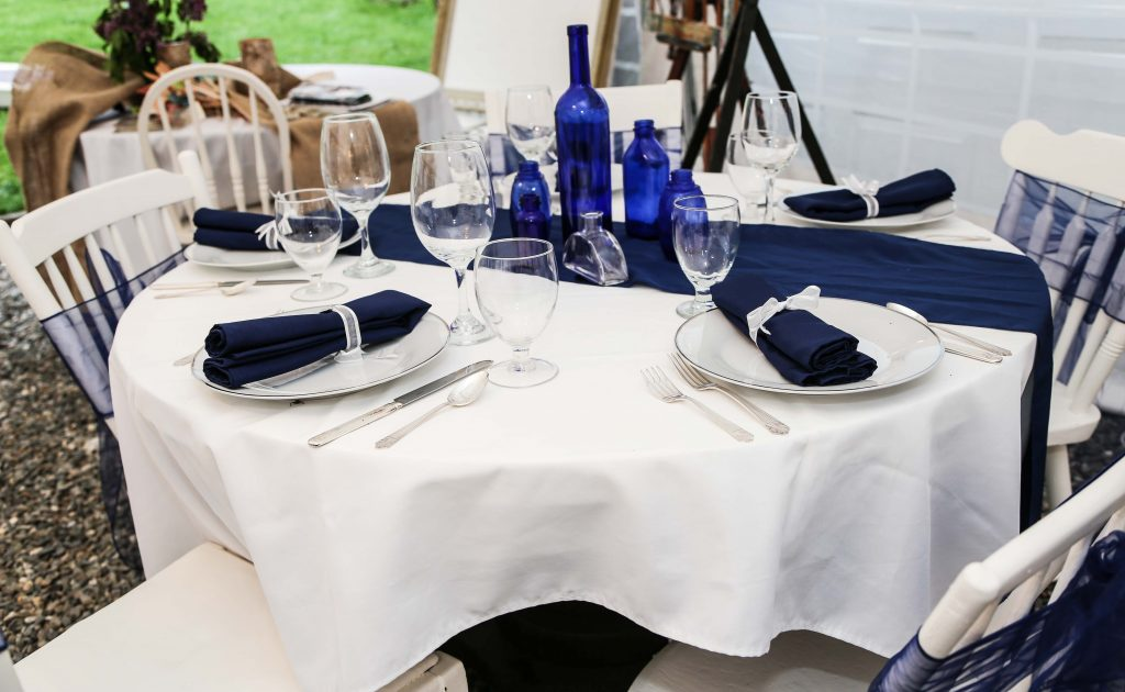 Table Setting - Navy - Wedding Decor from the Phineas Swann Bed and Breakfast Inn in & Table Setting - Navy 1 - Phineas Swann Bed and Breakfast Inn