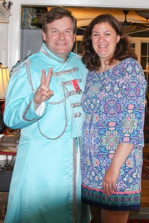 Guests in costume at the Montgomery People's Prom down the street from the Phineas Swann Bed & Breakfast Inn