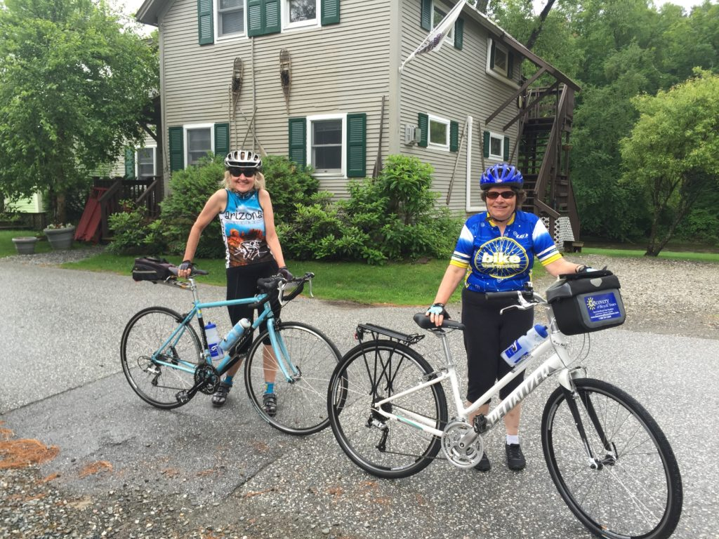Road cycling at the Phineas Swann Bed & Breakfast Inn in Montgomery Center at the top of Vermont near Jay Peak.