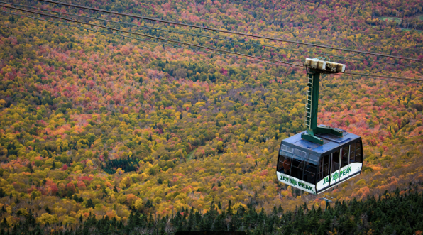 Vermont Fall Foliage at Jay Peak Resort near the Phineas Swann Bed & Breakfast Inn