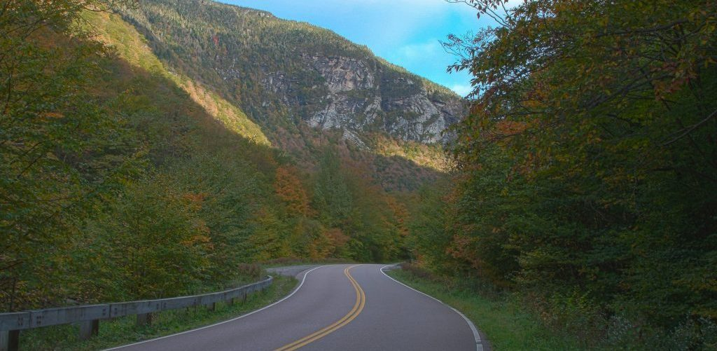 Vermont Fall Foliage at Smugglers Notch near the Phineas Swann Bed & Breakfast Inn